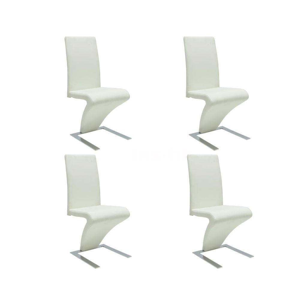 Sedie moderne design set da 4 sedie pelle bianca K6S7 | eBay